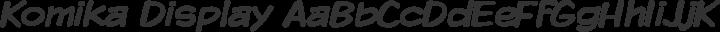Komika Display Regular free font