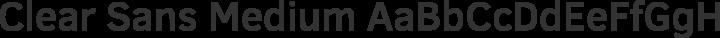 Clear Sans Medium free font