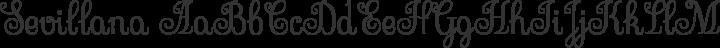 Sevillana Regular free font