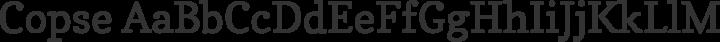 Copse Regular free font