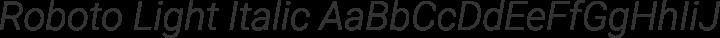 Roboto Light Italic free font