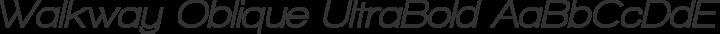 Walkway Oblique UltraBold Regular free font