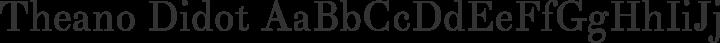 Theano Didot Regular free font