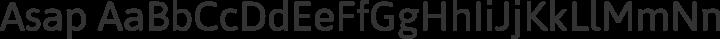 Asap Regular free font
