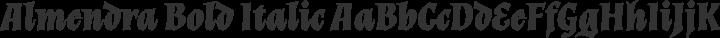 Almendra Bold Italic free font