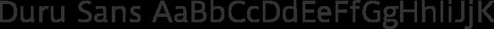 Duru Sans Regular free font