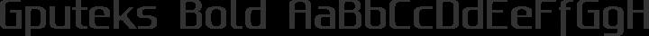 Gputeks Bold free font