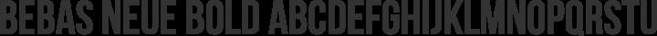 Bebas Neue Bold free font