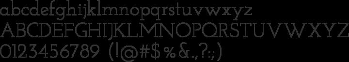 Josefin Slab Font Specimen