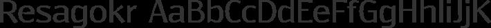 Resagokr font family by GLUK fonts