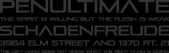 Pirulen Font Phrases
