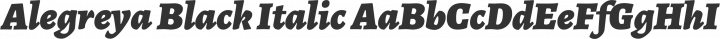 Alegreya Black Italic free font