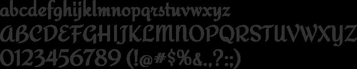 Redressed Font Specimen