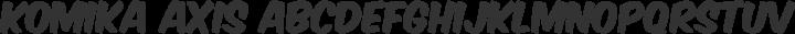 Komika Axis Regular free font