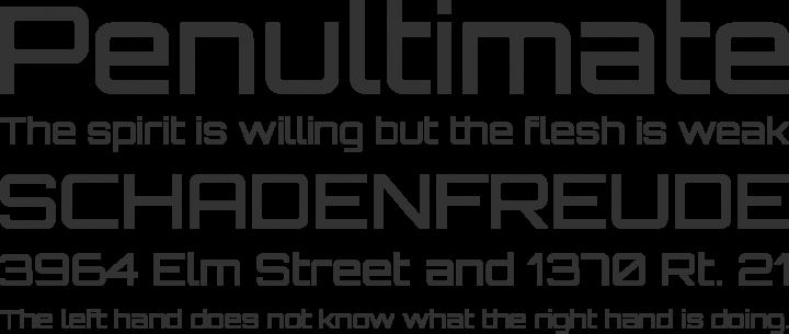 Orbitron Font Phrases