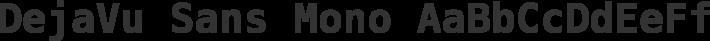 DejaVu Sans Mono font family by DejaVu Fonts