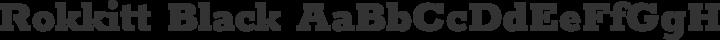 Rokkitt Black free font