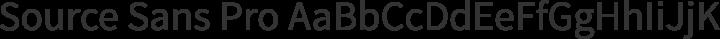 Source Sans Pro Regular free font