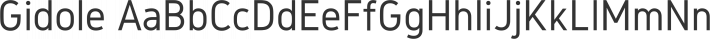 Gidole font family by Andreas Larsen