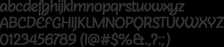 Sovba Regular Font Specimen