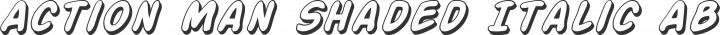 Action Man Shaded Italic free font