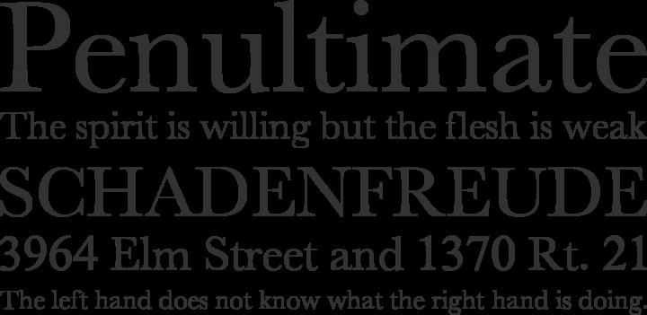 New Athena Unicode Font Phrases