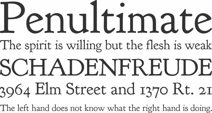 Goudy Bookletter 1911 Font Phrases
