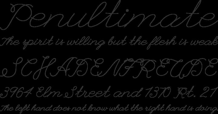 League Script #1 Font Phrases