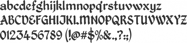 Kingthings Petrock Font Specimen