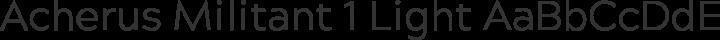 Acherus Militant 1 Light free font