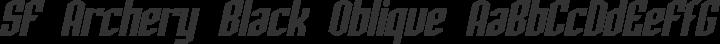SF Archery Black Oblique free font