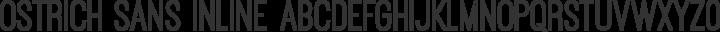 Ostrich Sans Inline Regular free font