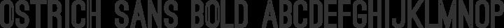 Ostrich Sans Bold free font