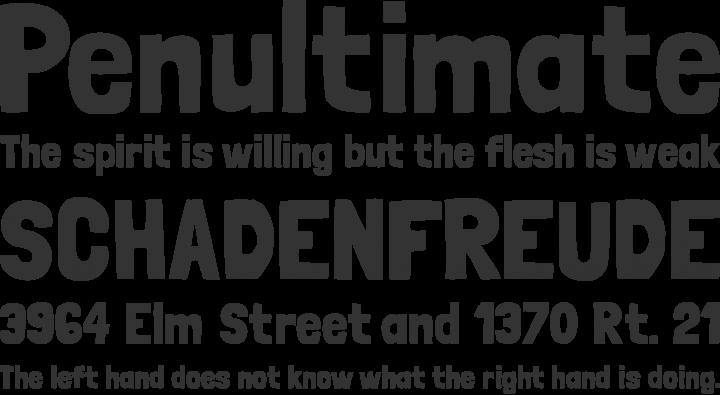 Londrina Font Phrases