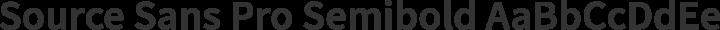 Source Sans Pro Semibold free font