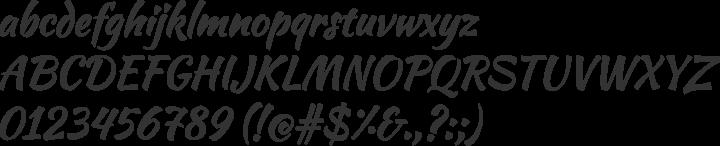 Kaushan Script Font Specimen