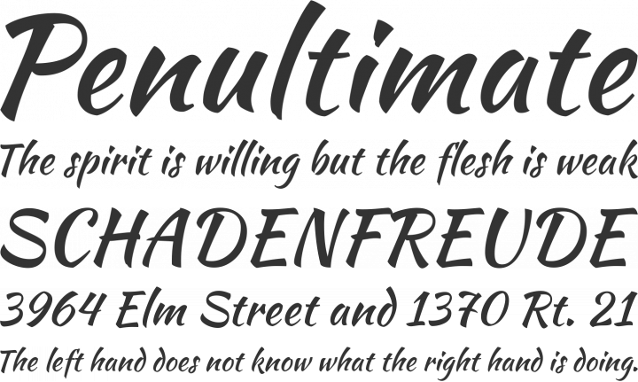Kaushan Script Font Phrases