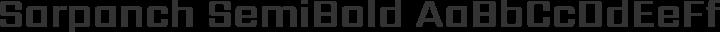 Sarpanch SemiBold free font