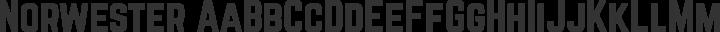 Norwester Regular free font