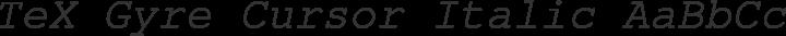 TeX Gyre Cursor Italic free font
