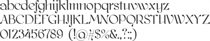 kawoszeh Font Specimen