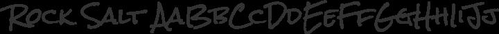 Rock Salt Regular free font