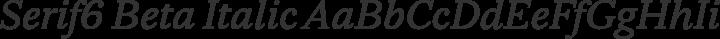 Serif6 Beta Italic free font