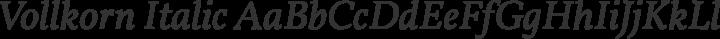 Vollkorn Italic free font