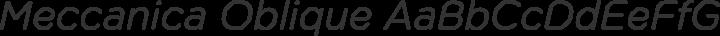 Meccanica Oblique free font