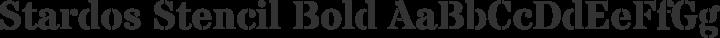 Stardos Stencil Bold free font