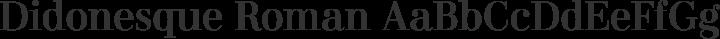 Didonesque Roman free font