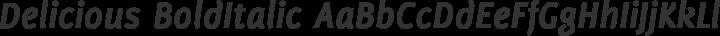 Delicious BoldItalic free font