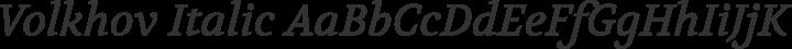 Volkhov Italic free font