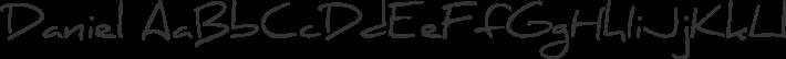 Daniel font family by Daniel Midgley